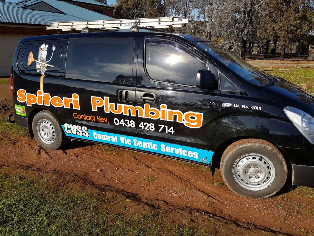 Central Vic Septic Services - Work Van